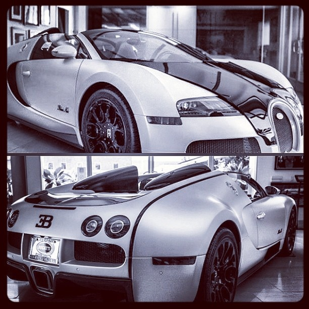 Artwork! Black and white Bugatti Veyron