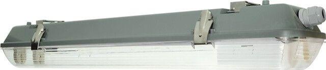 CORPUL NEON LED 2x600 MM ETANS IP65 are grad de protectie sporit la umezeala si praf (IP 65), acesta poate fi montat in mod sigur in bai, bucatarii sau medii cu un nivel de umezeala ridicat. Nu contine tuburile LED care se achizitioneaza separat.