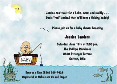 Baby Shower Invitations/fish | Fishing Theme Baby Shower Invitations For  Boys