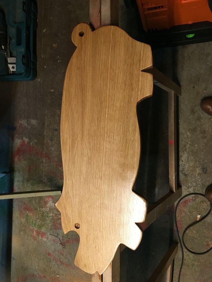 Cutting board oak pig  Hapso