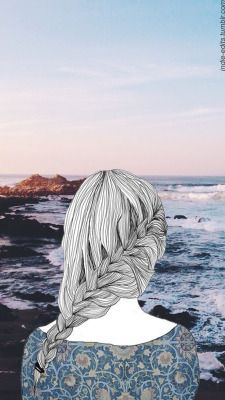 LOCKSCREENS wallpapers tumblr girl outlines landscape - wallpaper | lockscreen | papel de parede | plano de fundo | background |