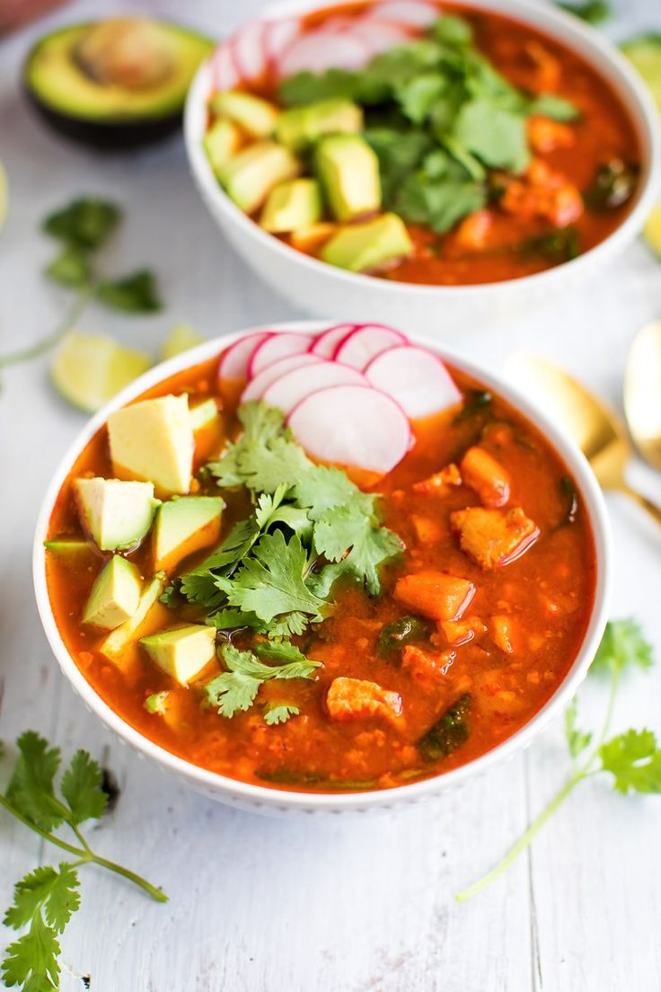 Mexican Sweet Potato Chicken Soup // Gluten-free, Paleo and Whole30 approved