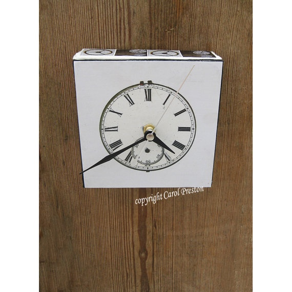 Wall Clock Retro Decoupage by MistsOfTime on Etsy, $23.00