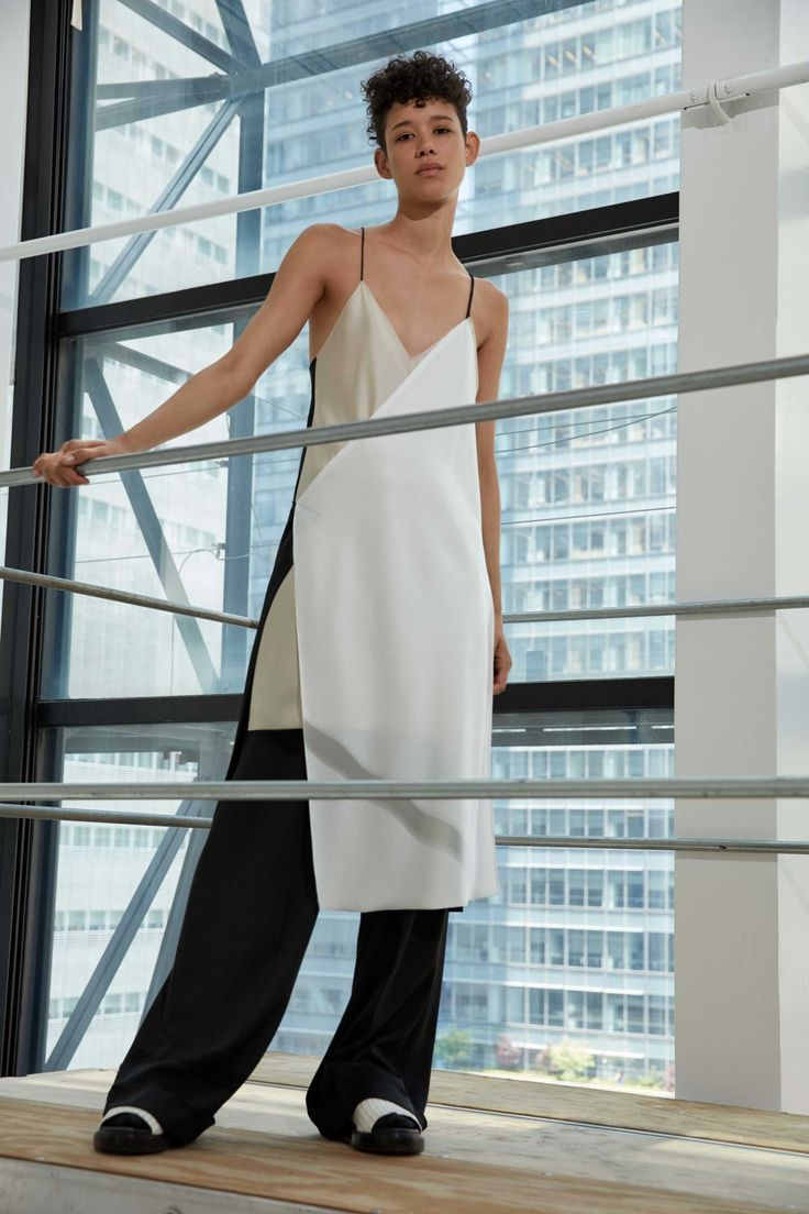 DKNY Resort 2017 Collection Photos - Vogue ...always love a good dress-over-pants combo...