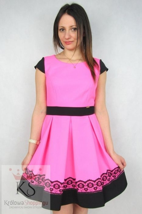 Piękne sukienki koktajlowe na wesele różowa fashion4u.pl