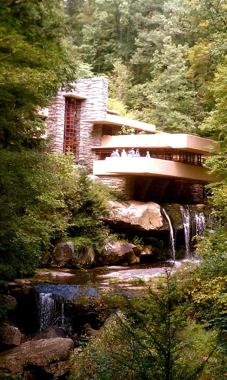 Frank Loyd Wright, Falling Water  Would love to take a trip to see Frank Loyd Wright architecture.