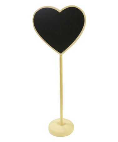 Loving this Heart Chalkboard Tag & Stand - Set of 12 on #zulily! #zulilyfinds