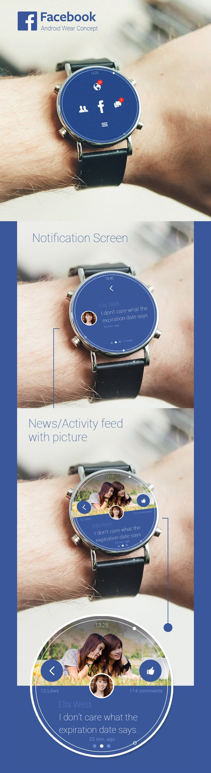 Facebook smartwatch UI http://www.cssdesignawards.com/articles/23-smartwatch-ui-designs-concepts/114/