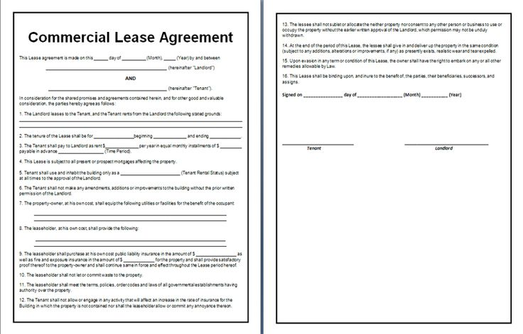 commercial lease agreement office templates pinterest commercial. Black Bedroom Furniture Sets. Home Design Ideas