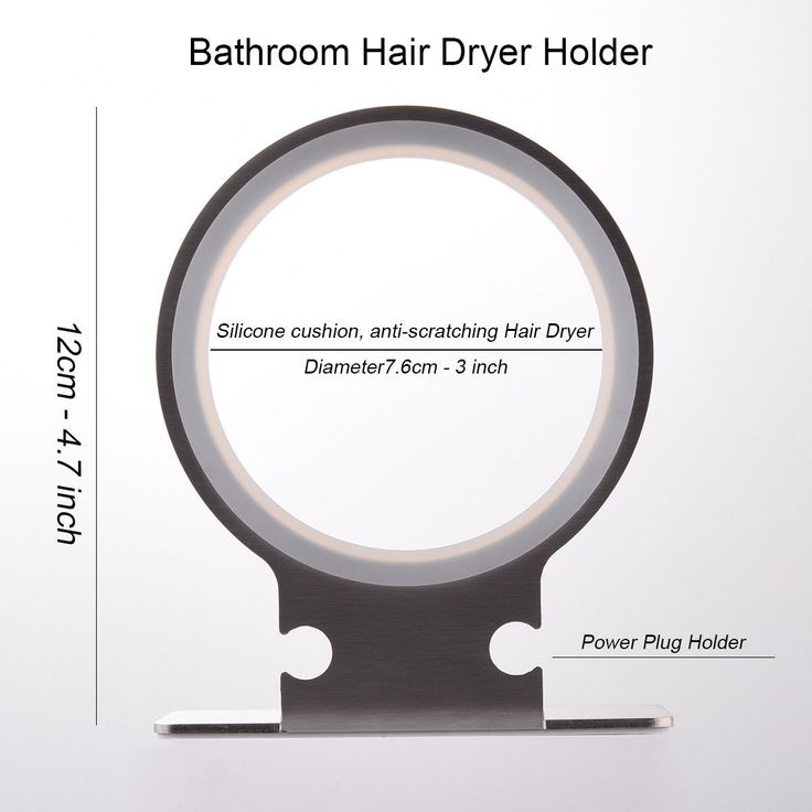 Bathroom Hair Dryer Holder Wall Mount, Adhesive Storage Organizer for Hair Blower with Plug Stand, Stainless *** Read more details by clicking on the image. #hairdesign