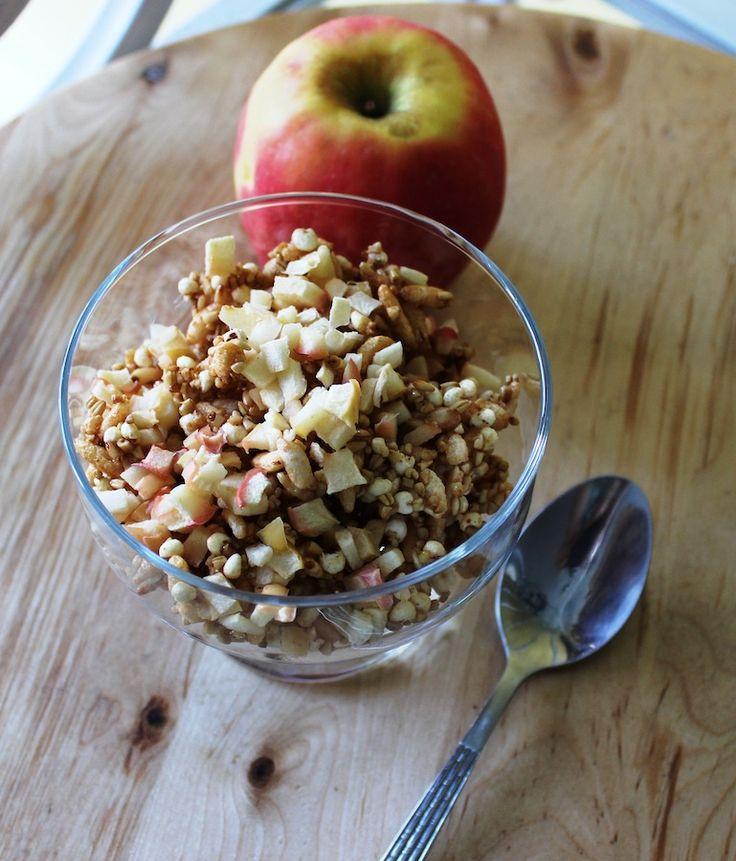 Recette Granola aux pommes (sans lait, oeufs, noix, blé, gluten ni arachides) - Recettes du Québec