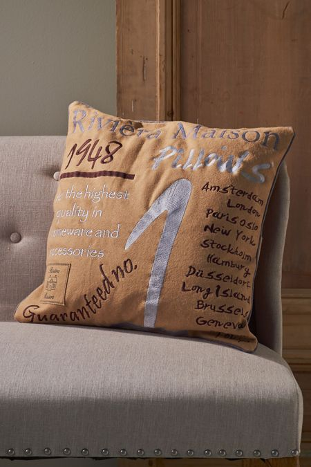 €39,95 Rivièra Maison No. 1 Pillow beige #living #interior #rivieramaison