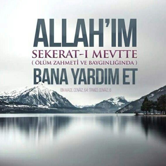 """""""Dua, müminin silahı, dinin direği, göklerin ve yerin nurudur."""" (bk. Hakim, Müstedrek, I/492)  Allahım Yardım et.  #yardım #ölüm #zahmet #hadisler #sekerat #dua #amin #islam #müslüman  #ilmisuffa"""