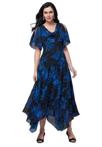 Is it a maxi or a midi dress? Why not both with the hanky style hemline.  http://plussizepartywear.newreviews.info/roamans-womens-plus-size-fit-and-flare-beaded-floral-hanky-hem-gown-dark-sapphire-multi14-w/