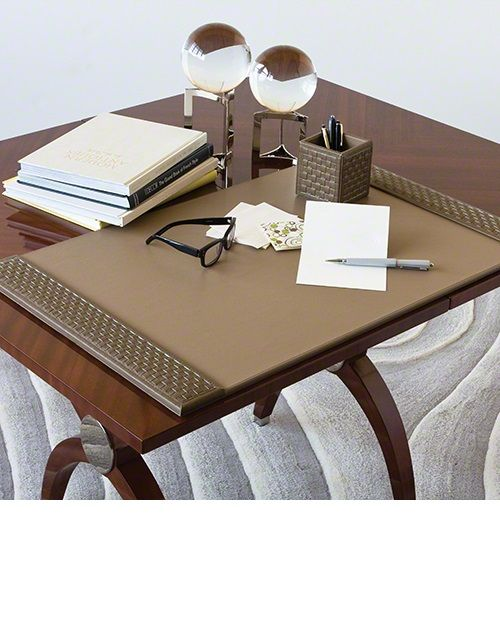Desk Accessories, Luxury Designer Executive Mink Leather Desk Pad, so beautiful, inspire your friends and followers interested in luxury interior design, with new trending accents from Hollywood courtesy of InStyle Decor Beverly Hills, Luxury Designer Furniture, Lighting, Mirrors, Home Decor & Gifts, over 3,500 inspirations to choose from and share with our simple one click Pinterest Pin button enjoy & happy pinning
