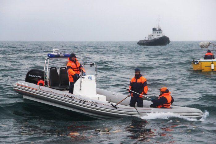 Фотографии с места крушения самолёта Ту-154 в Чёрном море под Сочи.