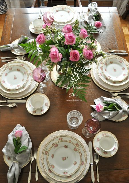 Fair Meadow Place: Set the Table - Roses for Mother's Day