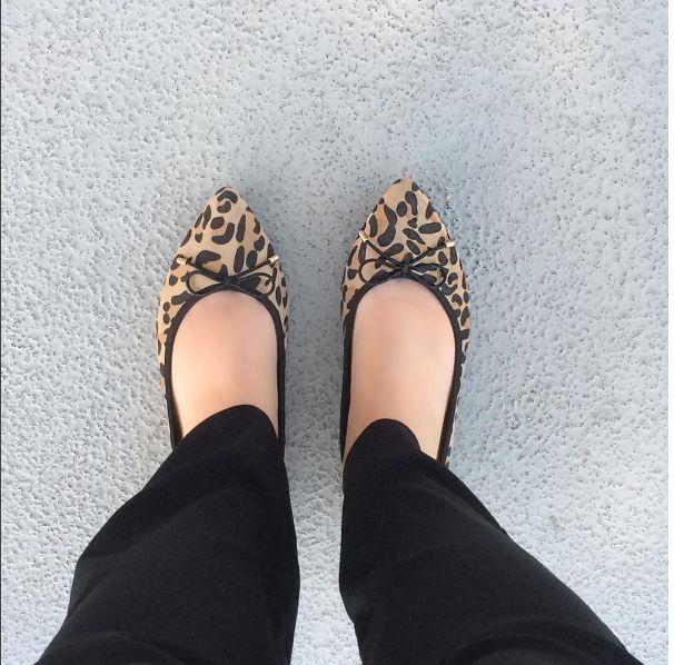 Women's leopard print flats