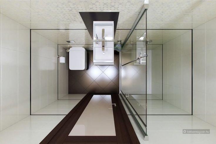 Mini fürdőszoba, itt már csak egy zuhanyfülke fért el mosdóval és WC-vel - kis fürdőszoba ötletek