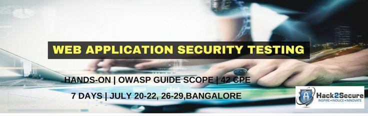Hack2Secureu0027s Workshop on Web Application Security Testing - security incident report
