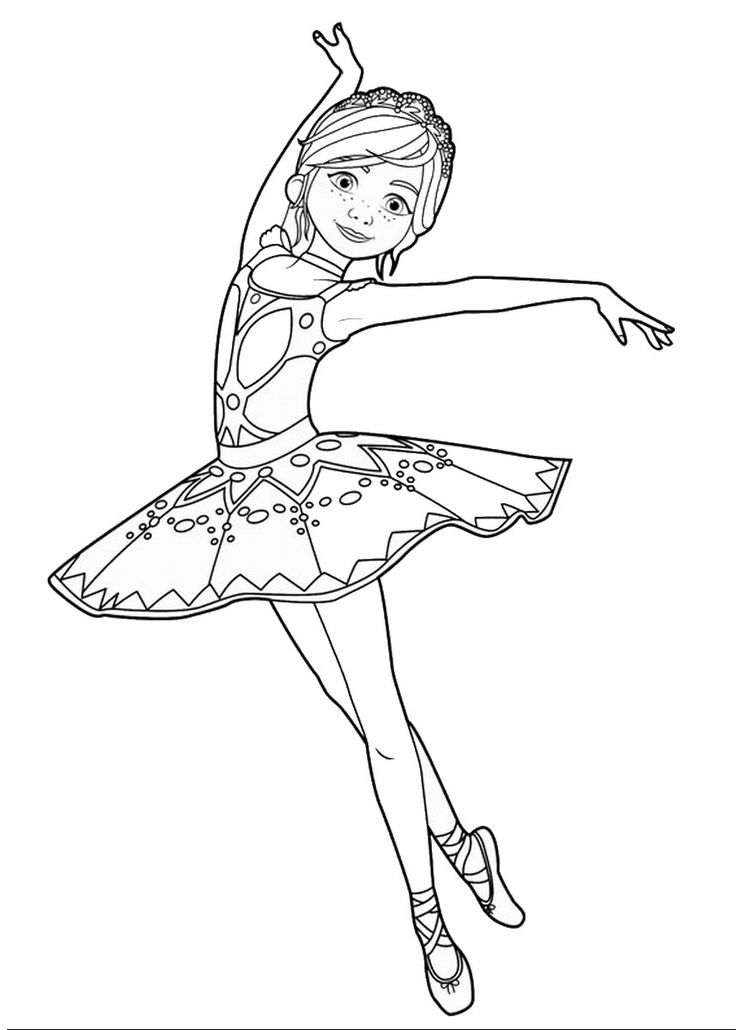 Leap! Movie Coloring Pages + Trailer Dance coloring