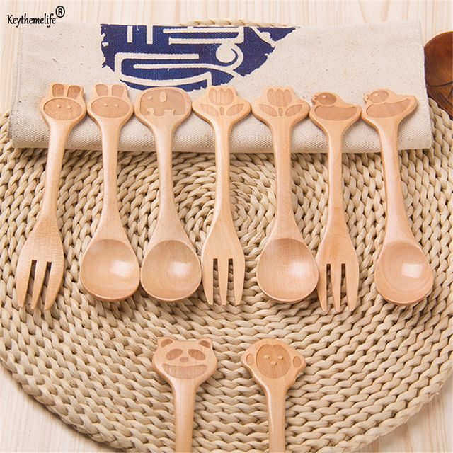 Check current price Keythemelife 2pcs/set Wooden Fork Dinnerware Sets Eco-friendly Tableware Kitchen Utensils Supplies  3D just only $2.43 with free shipping worldwide  #dinnerware Plese click on picture to see our special price for you