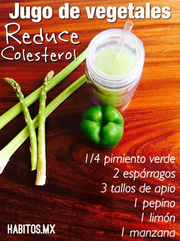 Jugos vegetales para reducir el colesterol (1) #salud #colesterol #infografía #jugo