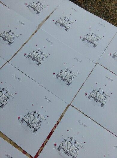 #beetle #savethedate #handmade #stationery