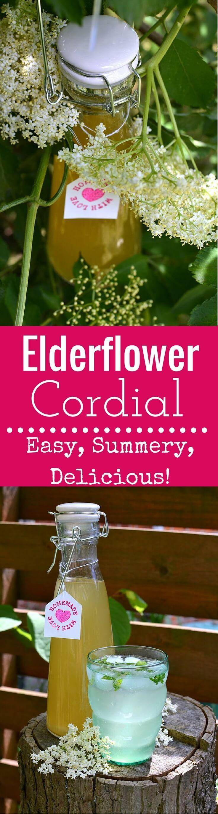 Elderflower Cordial: Forage for elderflowers and make this easy Elderflower Cordial at home. Enjoy the cordial in drinks and treats all summer long!