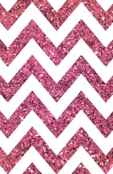Pink glittery chevron YES PLEASE