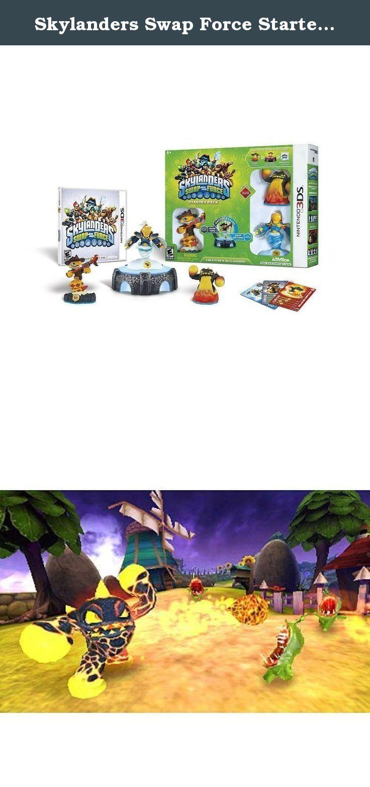 Skylanders Swap Force Starter Kit (Nintendo 3DS). Skylanders Swapforce Starter Pack 3DS 3 characters ( 1 Core, 2 Swap Force), 1 Portal of Power, 1 Game Software, Collecter's Poster, 3 Trading Cards, 3 Sticker/QR Codes, 1 HW Manual.