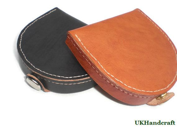 Leather Coin Wallet Leather Coin Purse Leather Coin by UKHandcraft