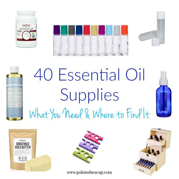 Essential Oil Supplies: What You Need & Where to Find It :http://www.paintedteacup.com/2016/07/02/essential-oil-supplies/
