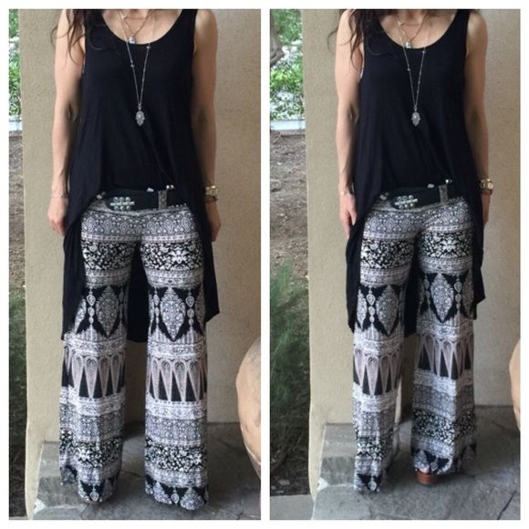 Aztec print fold waist pants Chic great fitting Aztec print fold waist pants PLEASE USE Poshmark new option you can purchase and it will give you the option to pick the size you want ( all sizes are available) BUNDLE And SAVE 10% ( sizes updated daily ) Pants