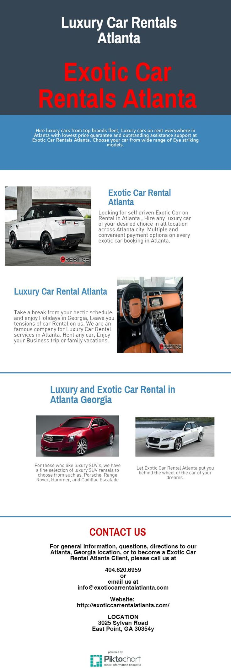 Let Exotic Car Rental Atlanta put you behind the wheel of the car of your dreams. We have the following dream car rentals to choose from, Ferrari Rental, Lamborghini Rental, Aston Martin Rental, Bentley Rental, Corvette Rental and Porsche Rental. We extend the red carpet service to all our clients so your exotic car rental becomes unforgettable.