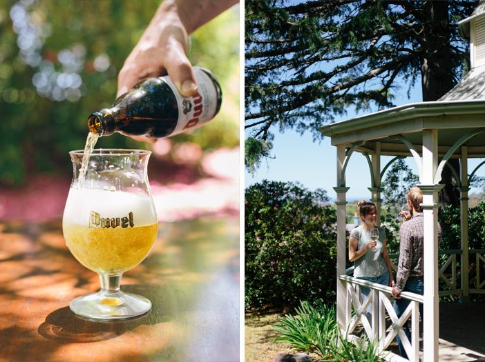 Duvel beer in Flemish Flavours' summer garden. Advertising Photography by Evangeline Aguas