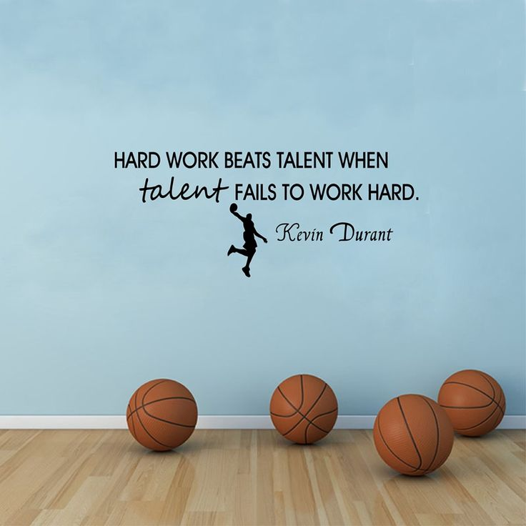 >> Click to Buy << Kevin Durant Basketball Quote Vinyl Wall Sticker Work Hard Art Decal Basketball Decoration #Affiliate