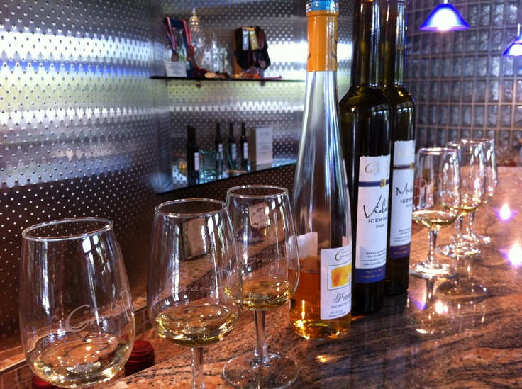 Visit Domaine de Grand Pre for a wine tasting and dine at the beautiful Le Caveau restaurant on the vineyard.