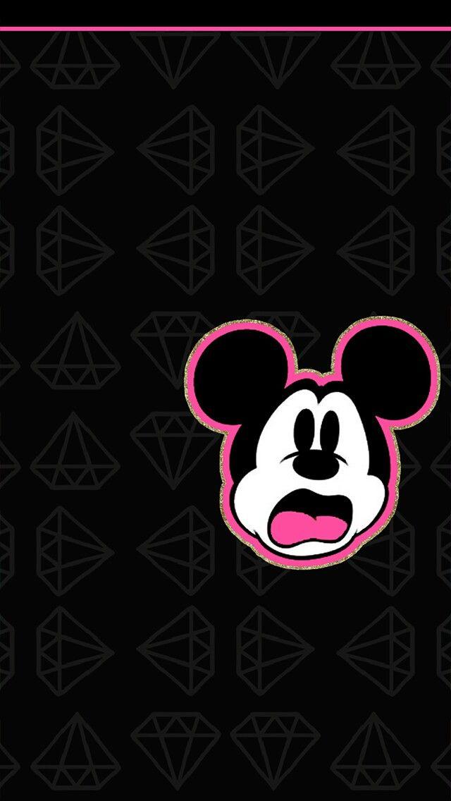 Mickey wallpaper girly wallpapers pinterest fondos - Mickey mouse phone wallpaper ...