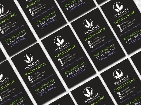 Herbalife Business Card Digital Template 3 by ...