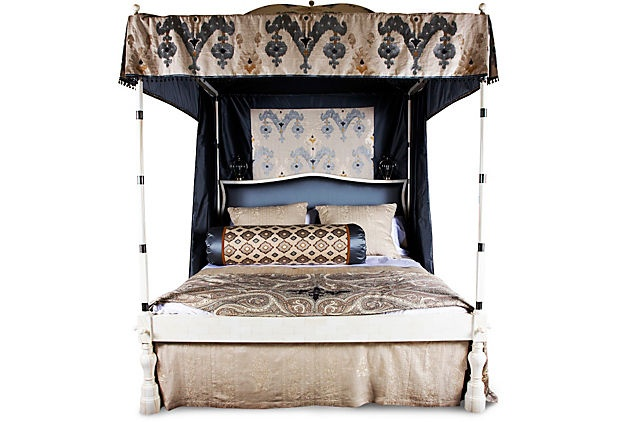 Custom Canopy Bed w/ Bedskirt, King on OneKingsLane.com
