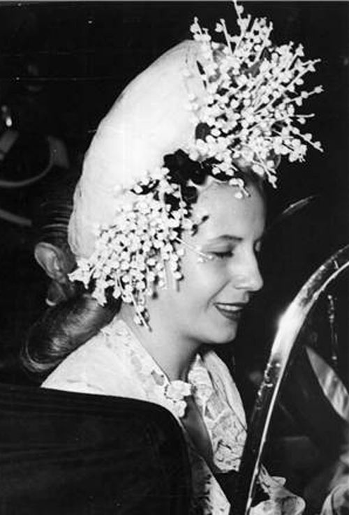 Evita loved hats and wore them well! #passion4hats