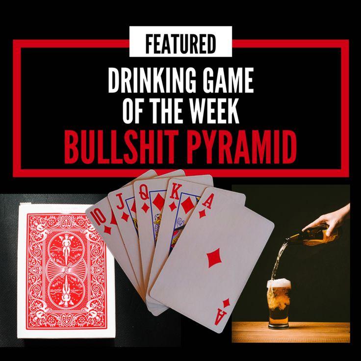 How to Play Bullshit Pyramid Drinking Game