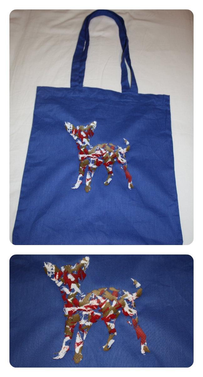 Bolsa - bolso Chihuahua azul