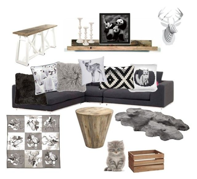 """""""Stockholm"""" by zsuzsa-szekely on Polyvore featuring interior, interiors, interior design, home, home decor, interior decorating, Ohh Deer, Hearts Attic, By Nord and CB2"""