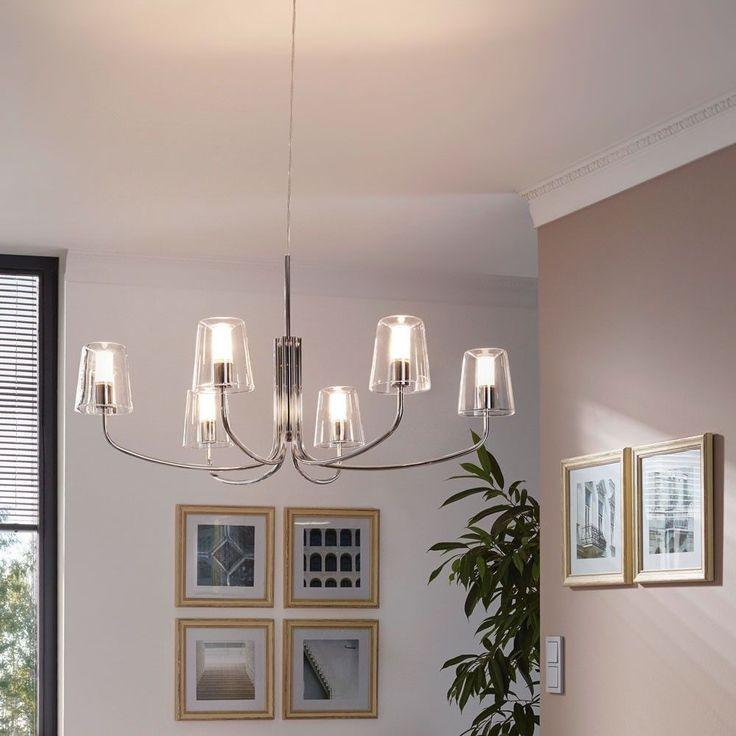 Licht-Trend Advance / LED Kronleuchter 6-flammig / weiss-nickel