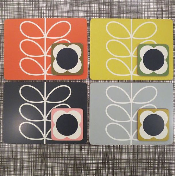 affordable placemats and coasters orlakiely with orla kiely papier peint. Black Bedroom Furniture Sets. Home Design Ideas