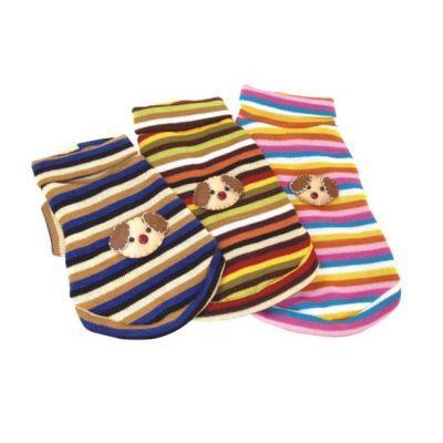 Bobo Örgü Kedi Ve Köpek Kazağı Medium   Pamuklu ipden dokuma kedi ve köpek kazağıdır. Keçe kazak üstü işlemesi ile köpeğinize ve kedinize sevimlilik katacaktır. Soğuk havalarda dostunuzu koruyacak şık bir kıyafet   Kıyafet seçimi yaparken ölçüleri lütfen dikkate alınız.   Boyun Çevresi      :24 Cm Beden Uzunluğu   :28 Cm Göğüs Çevresi      :30 Cm