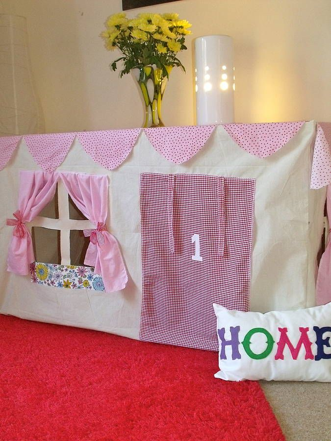 cottage style table play tent by love lime | notonthehighstreet.com