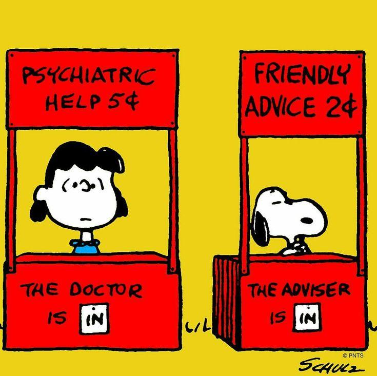 Psychiatric help. Snoopy.